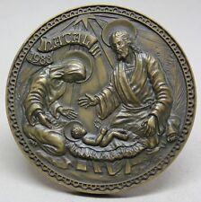 NATIVITY/ Holy Family/ 1988 CHRISTMAS Bronze Medal by José de Moura