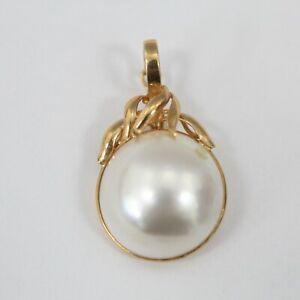 14K Yellow Gold Baroque Pearl Pendant Enhancer