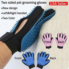 Pet Grooming Gloves Hair Remover Brush Dog Cat Massage Soft Bath Deshedding Comb