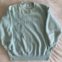 Vintage 90s Crewneck Sweatshirt Cherokee Small Teal/Aqua blue pullover astro