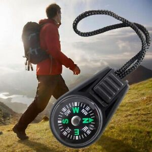 Mini Oil Filled Button Compass - Military/ Camping Zip Watch Strap