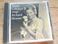 Maria Cebotari singt Richard Strauss [CD Album]  1943  / Preiser Records