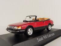 Saab 900 Turbo 16 Cabriolet 1992 Rojo 1/43 Norev 810042 Convertible Cabrio Rojo