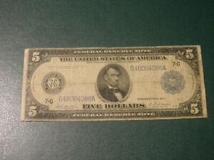 USA banknote 5 Dollar 1914 !!!!!!!