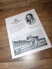 Rare 1958 Indianapolis Indy 500 Complimentary Souvenir Booklet / Mailer