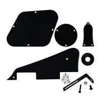 1Ply Black LP Guitar Pickguard Back Plate Set Scratch Plate for Les Paul Guitar