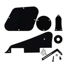1Ply Black LP Guitar Pickguard Back Plate Set Scratch Plate for Les Paul Guitar
