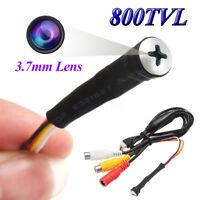 DIY Mini Hidden Camera HD 800TVL Color CCTV Screw Pinhole 3.7mm Lens Video Audio