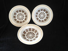 Early RIDGWAY rare set of 3 x rimmed bowls dishes ANDORRA pattern