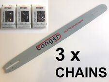 "20"" CHAINSAW BAR for HUSQVARNA 3/8 058 & 3 x LONGER CHAIN - SPROCKET NOSE"