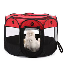 Small Pet Play Pen Puppy Dog Cats Foldable Playpen Cage Enclosure Tent Crate