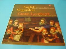 ENGLISH VIRGINALISTS VINYL RECORD GUSTAV LEONHARDT HARP RUCKERS BAC 3075