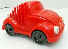 Vtg 70s Mid Century Red VOLKSWAGON Fun Buggy VW Bug CAR Desk Caddy Pencil Holder