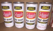 4 Cans Schmidt Beer 3 Steel 1 Aluminum Half Quart Adverting Sign Minnesota Brewe