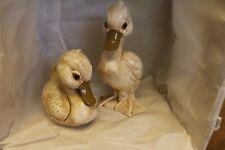 Norleans Japan porcelain adult duck pair Vtg 60's beautiful pieces lot of 2