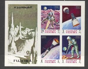 Fujeira 1969 Mi block 14B  Space Flights MNH