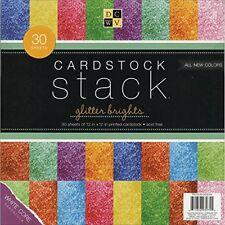 12 X Solid Glitter Paper Stack White E Ps005032
