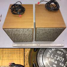 RFT Lautsprecher mit L2301 Breitband Chassis 6VA bei 6ohm aus DDR