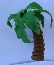 1 3D edible palm tree cake topper DECORATION beach PIRATE tropical wedding