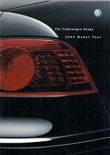 Volkswagen 2002-03 UK Market Brochure Lupo Polo Golf Beetle Bora Passat Sharan