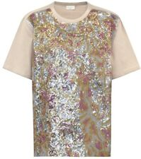 New DRIES VAN NOTEN Haikal Embellished Sequin Cotton T-shirt Size XS MSRP $520
