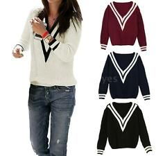 Medium Striped None Waist Length Women's Jumpers & Cardigans
