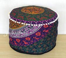 "18X18"" Round SIx Color Multi Mandala Pouf Cover Decorative Cotton Ottoman Covers"