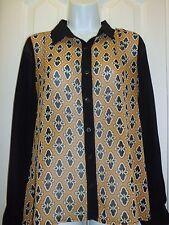 Women's Casual/Dress Long Sleeve Transparent Shirt Sz S Casual Career Blouse