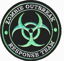 """ZOMBIE OUTBREAK RESPONSE TEAM""-IRON ON PATCH-BIOHAZARD-US TACTICAL-SWAT-COMBAT"