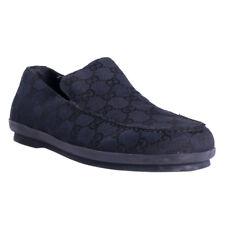 Gucci Shoes Size 7 (40 Eu) Black Guccissima Print Canvas Mens Loafer