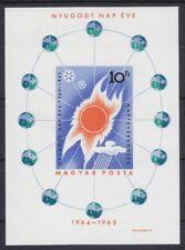 """Ungarn 1965 - Mi. Block 46B """"Jahr der ruhigen Sonne"""" postfrisch"""