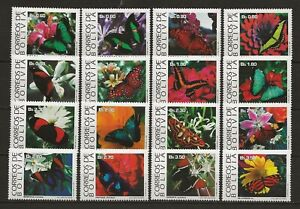 Bolivia 1993 Insects Butterfly Schmetterlinge Papillons compl. set from MS MNH