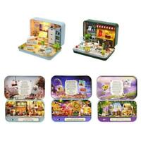 DIY Dollhouse Miniature 3D Doll House Kit Box Theatre Toy Decor Gifts Home Z2D1