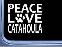 "Catahoula Peace Love L654 Dog Sticker 6"" decal"