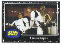 2015 Star Wars Journey To The Force Awakens Black #32 A rescue begins Topps Trad