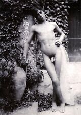 "Wilhelm von Gloeden, nude male model, gay, antique 1895 photograph, 8""x11"""