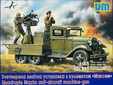 Quadruple Maxim AA MG on GAZ-AAA chassis << UM #511, 1:48 scale