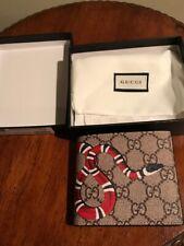 Gucci Tan Snake Print Wallet Mens  FREE SHIP!!  GREAT DEAL!!!!
