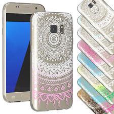 Henna Cover Samsung Galaxy Case Schutz Hülle Silikon Tasche Mandala Sonne TPU