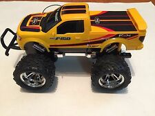 RC   Bright Ford F150 Yellow Radio Control Truck Used little