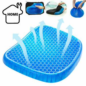 Gel Seat Breathable Egg Cushion Sitting Car Chair Gel Seat Pad Cooling Summer UK