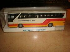 Rietze #61266 HO 1/87 MB bus Vienna Airport Lines      MIB (50/058)