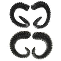 Halloween HairBand Sheep Horn Hair Hoop Headband Hair Cosplay Props (Black)