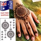 Henna Hand Temporary Tattoos - 1 full sheet of tattoos Tribal AUSSIE SELLER New