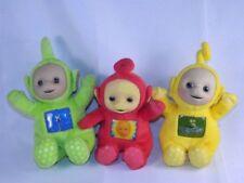 """3 Teletubbies 8""""  Laa Laa Po Tinky Winky Plush Stuffed Toys"""