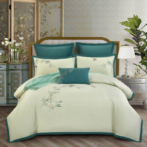 2021 Embroidered Egyptian Cotton Bedding Set Large King top hot