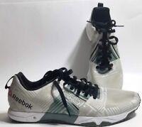 Reebok Men s Crossfit Sprint 2.0 Fitness Shoes White Silvery Green Black  Size 13 3ebeb2b06