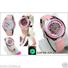 LCF-10L-4A Pink Casio Poptone Ladies Analog Sport Ladies Watches World time New
