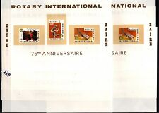 // 10X ZAIRE - MNH - IMPERF - ART, ROTARY