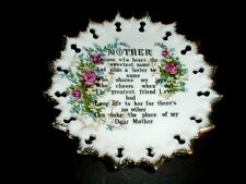 Mother'S Day Floral & Verse/Poem Collector Plate - Made in Japan (sau44)